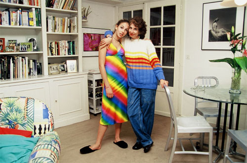Adrian Leeds, expat in Paris in her Marais apartment with her teenaged (then) daughter, Erika