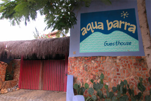 Aquabarra Guesthouse entrance