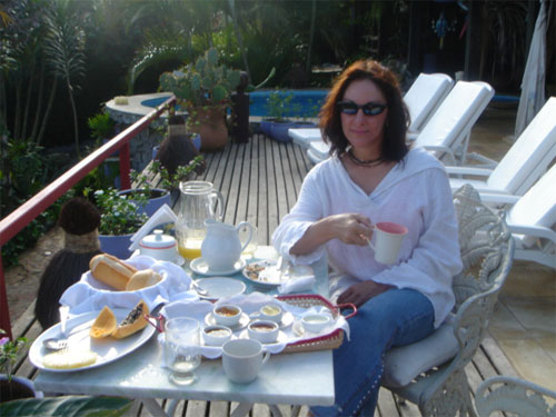 Buzios, Brazil near Geriba' Beach :: breakfast at Tiffany's...I mean Aquabarra Guesthouse