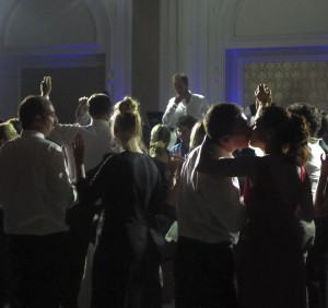 Westerners & Middle Easterners celebrate at a wedding at the Ciragan Palace in Istanbul